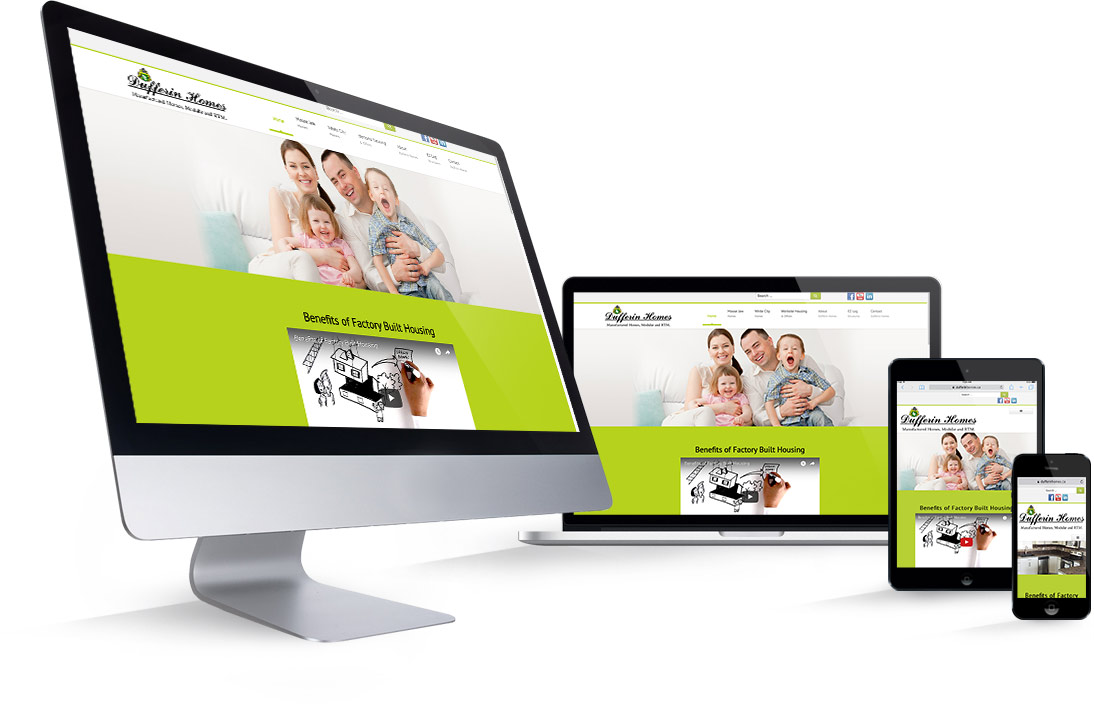 dufferin homes moose jaw responsive web design