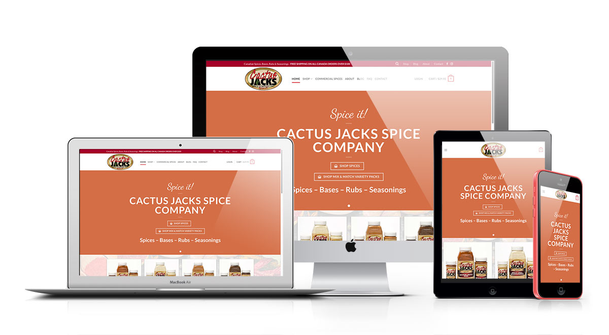 cactus jacks ecommerce responsive website design moose jaw