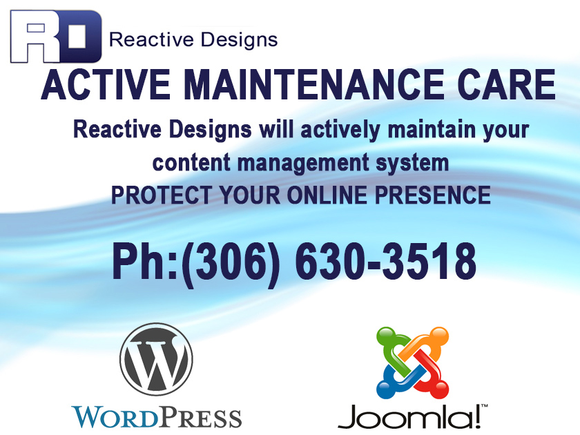 moose jaw web design wordpress joomla maintenance